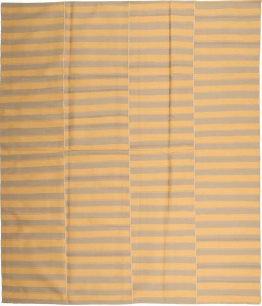 Kilim Nowoczesne Dywan 230X270 Nowoczesny Tkany Ręcznie Ciemnobeżowy/Jasnobrązowy (Wełna, Persja/Iran)
