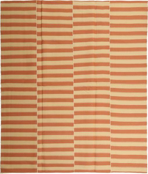 Kelim Moderni Matto 227X268 Moderni Käsinkudottu Vaaleanruskea/Tummanbeige (Puuvilla, Persia/Iran)