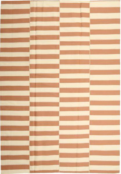 Kelim Moderni Matto 221X313 Moderni Käsinkudottu Vaaleanruskea/Beige (Puuvilla, Persia/Iran)