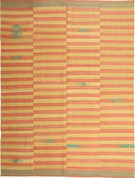Kelim Moderni Matto 222X295 Moderni Käsinkudottu Vaaleanruskea/Oranssi (Villa, Persia/Iran)