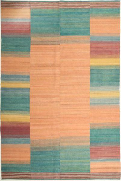 キリム モダン 絨毯 211X323 モダン 手織り 暗めのベージュ色の/薄茶色 (ウール, ペルシャ/イラン)