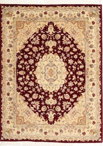 Tabriz 50 Raj Rug 152X203 Authentic  Oriental Handknotted Dark Red/Dark Beige (Wool, Persia/Iran)