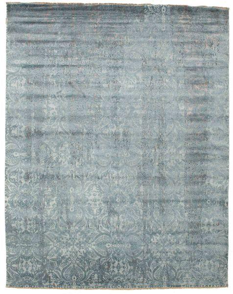 Damask Matto 244X308 Moderni Käsinsolmittu Vaaleanharmaa/Tummanharmaa ( Intia)