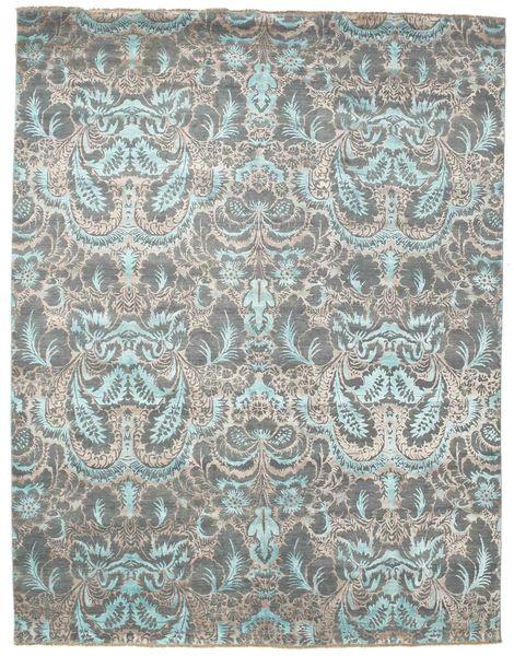 Damask Matto 243X313 Moderni Käsinsolmittu Vaaleanharmaa/Tummanharmaa ( Intia)