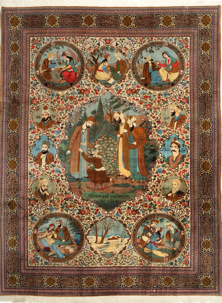Qum Sherkat Farsh carpet AXVZC419
