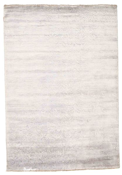 Damask Rug 171X250 Authentic  Modern Handknotted White/Creme/Beige/Light Grey ( India)