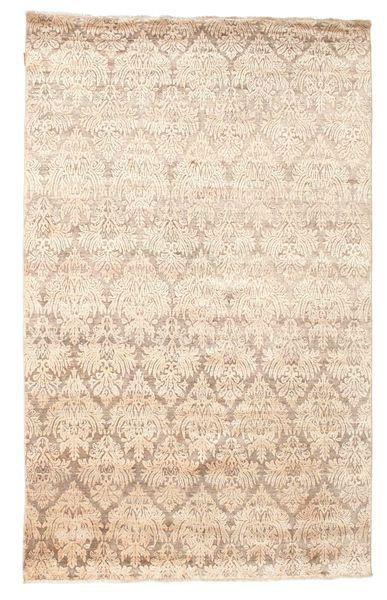 Damask Matto 169X270 Moderni Käsinsolmittu Beige ( Intia)