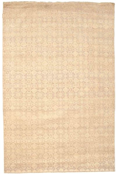 Damask Rug 169X257 Authentic  Modern Handknotted Beige/Light Brown ( India)