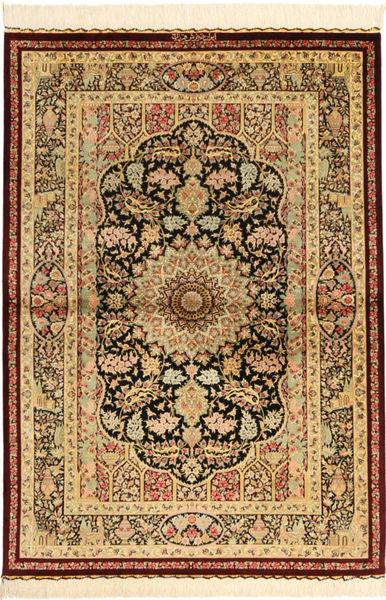 Ghom zijde Signature : Ghom Ghorbani tapijt AXVZC502