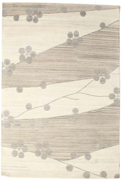 Himalaya Tapis 185X275 Moderne Fait Main Beige/Marron Clair (Laine, Inde)