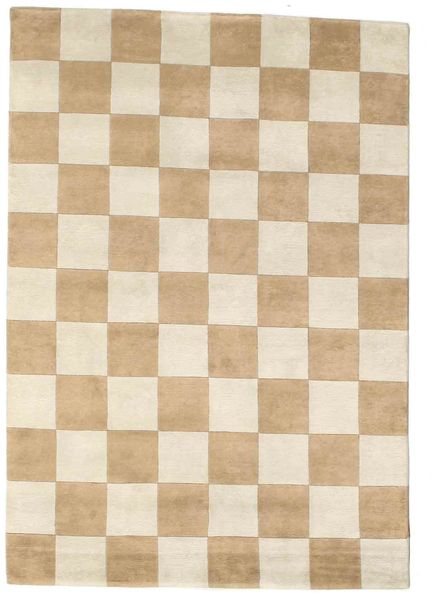 Himalaya Rug 140X200 Authentic  Modern Handknotted Light Brown/Beige ( India)