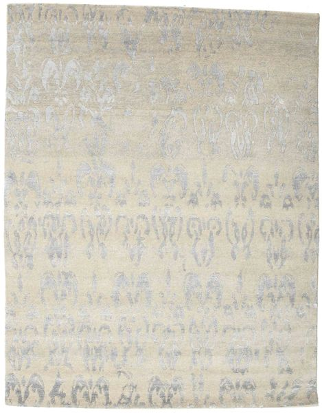 Himalaya Rug 158X201 Authentic  Modern Handknotted Light Grey/Dark Beige ( India)