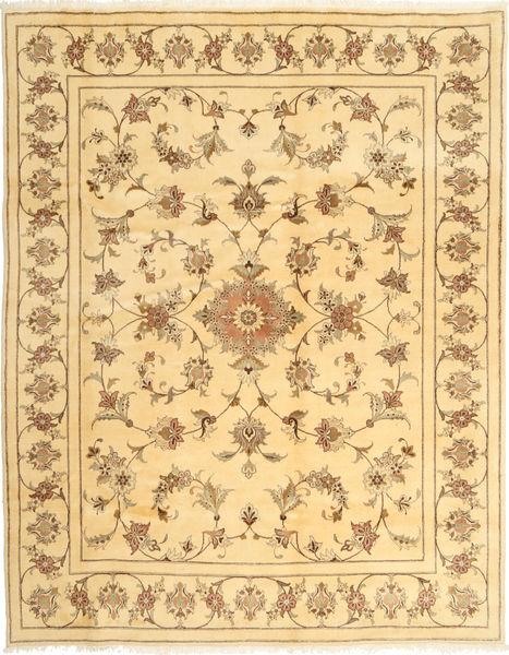 Yazd Matto 197X254 Itämainen Käsinsolmittu Vaaleanruskea/Tummanbeige (Villa, Persia/Iran)