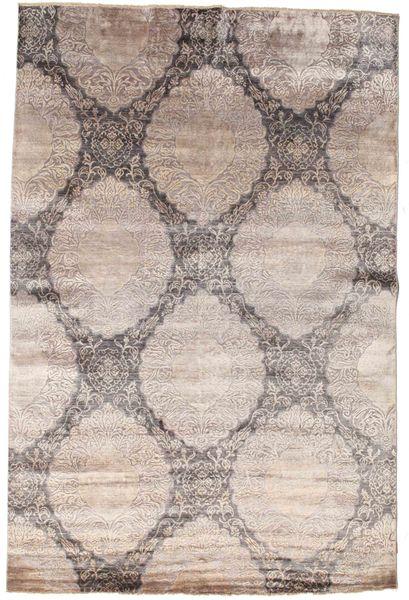 Damask Dywan 197X299 Nowoczesny Tkany Ręcznie Jasnoszary/Biały/Creme ( Indie)