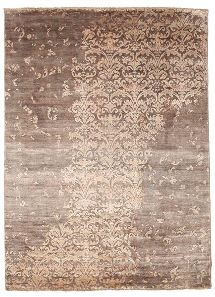 Damask Dywan 174X240 Nowoczesny Tkany Ręcznie Brązowy/Jasnoszary ( Indie)