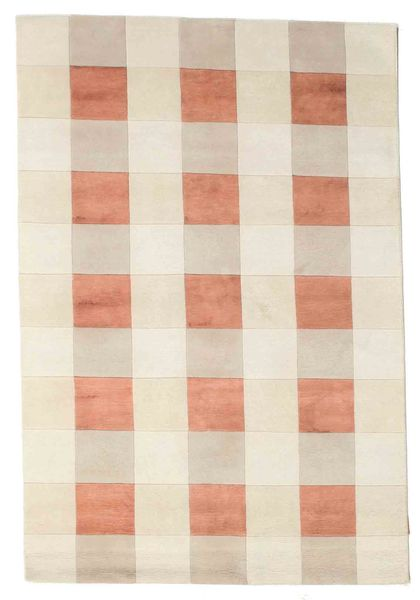 Himalaya Rug 138X203 Authentic  Modern Handknotted Beige/Light Brown ( India)