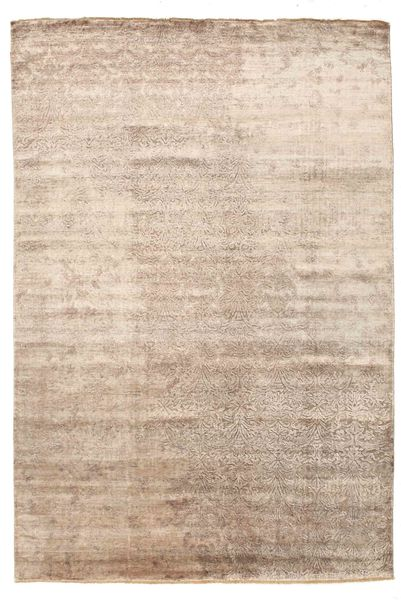 Damask Matto 201X300 Moderni Käsinsolmittu Vaaleanruskea/Beige ( Intia)