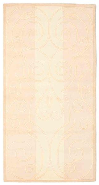 Himalaya Tapis 81X155 Moderne Fait Main Beige/Rose Clair ( Inde)