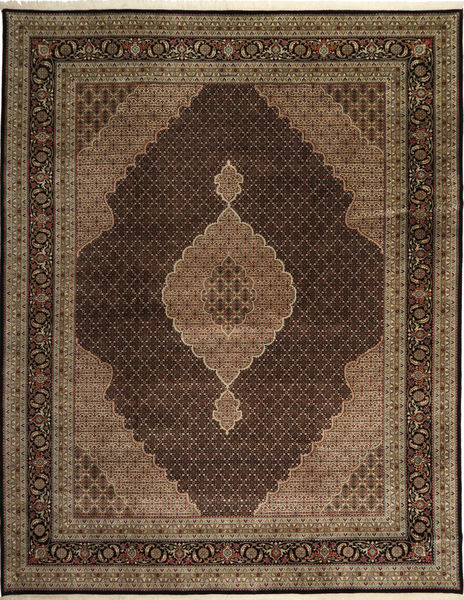 Tabriz Royal Mahi Rug 305X391 Authentic  Oriental Handknotted Dark Brown/Brown/Light Brown Large ( India)