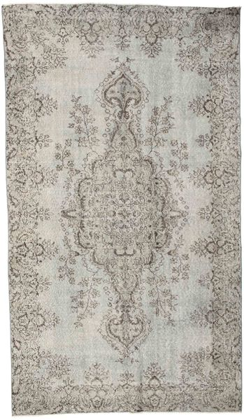 Colored Vintage Rug 160X283 Authentic  Modern Handknotted Light Grey (Wool, Turkey)