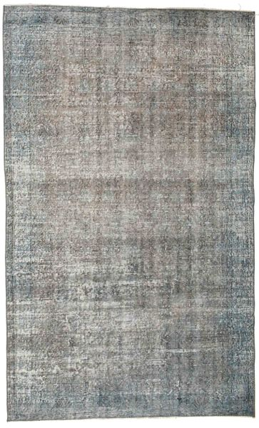 Colored Vintage Rug 156X259 Authentic  Modern Handknotted Light Grey/Dark Grey (Wool, Turkey)