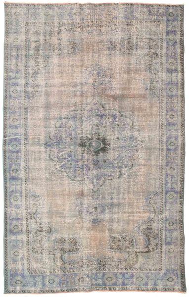 Colored Vintage Teppe 167X269 Ekte Moderne Håndknyttet Lys Grå/Mørk Grå (Ull, Tyrkia)