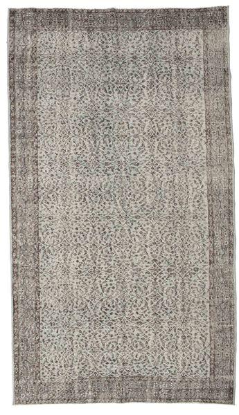 Colored Vintage Rug 166X296 Authentic  Modern Handknotted Light Grey/Dark Grey (Wool, Turkey)