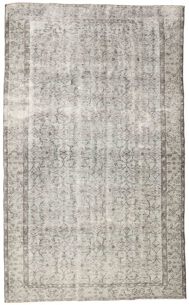 Colored Vintage Rug 188X308 Authentic  Modern Handknotted Light Grey (Wool, Turkey)