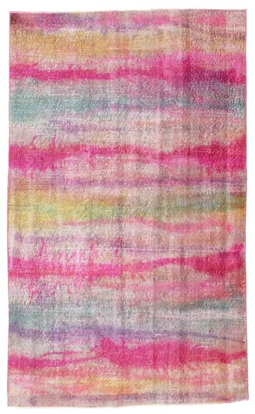 Colored Vintage Rug 150X244 Authentic  Modern Handknotted Light Pink/Pink (Wool, Turkey)