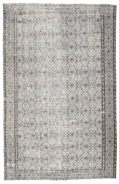 Colored Vintage Rug 185X287 Authentic  Modern Handknotted Light Grey/Dark Grey (Wool, Turkey)