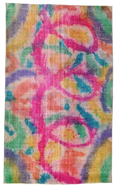 Colored Vintage Rug 160X266 Authentic  Modern Handknotted Light Pink/Light Grey (Wool, Turkey)