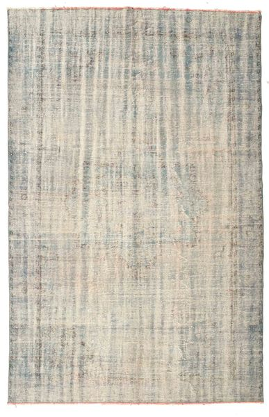 Colored Vintage Rug 195X302 Authentic  Modern Handknotted Light Grey/Light Brown (Wool, Turkey)