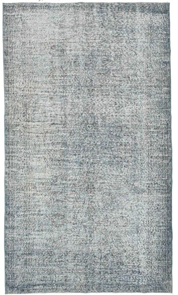 Colored Vintage Rug 168X295 Authentic  Modern Handknotted Light Grey/Light Blue (Wool, Turkey)