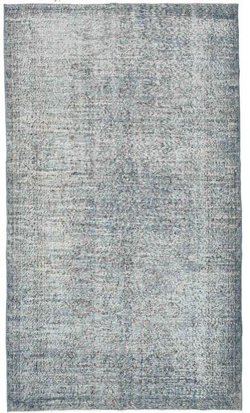 Colored Vintage Teppich  168X295 Echter Moderner Handgeknüpfter Hellgrau/Hellblau (Wolle, Türkei)