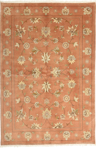 Yazd Matta 160X244 Äkta Orientalisk Handknuten Ljusbrun (Ull, Persien/Iran)