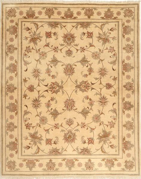 Yazd Matto 199X246 Itämainen Käsinsolmittu Vaaleanruskea/Tummanbeige (Villa, Persia/Iran)