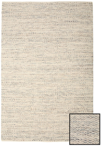 Chevron Waves - Light Rug 200X300 Authentic  Modern Handwoven Beige/Light Brown/Light Grey ( India)