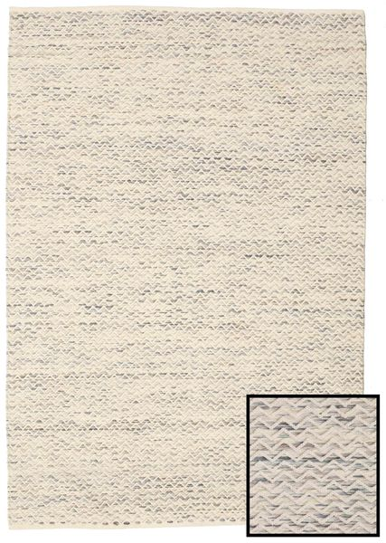 Chevron Waves - Light Rug 160X230 Authentic  Modern Handwoven Beige/Light Grey ( India)
