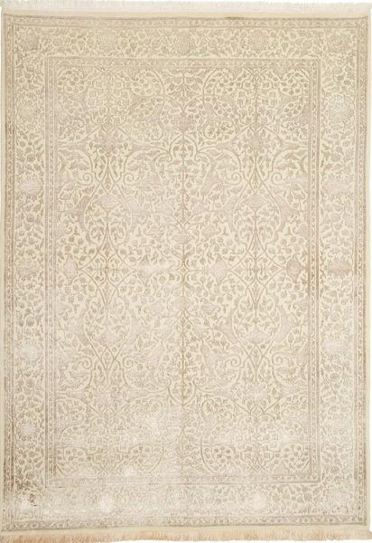 Tabriz Royal Magic Matto 169X242 Itämainen Käsinsolmittu Beige/Vaaleanruskea ( Intia)