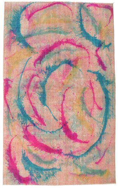 Colored Vintage Rug 164X268 Authentic  Modern Handknotted Light Pink/Light Brown (Wool, Turkey)