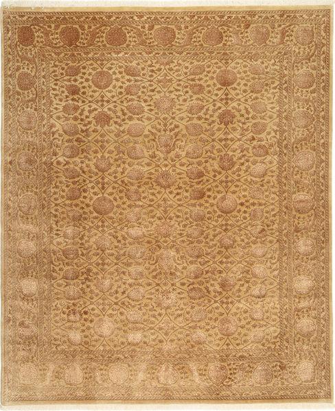 Tabriz Royal Magic Teppe 198X241 Ekte Orientalsk Håndknyttet Lysbrun/Brun ( India)
