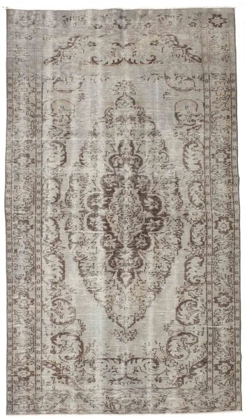 Colored Vintage Rug 166X292 Authentic  Modern Handknotted Light Grey/Light Brown (Wool, Turkey)