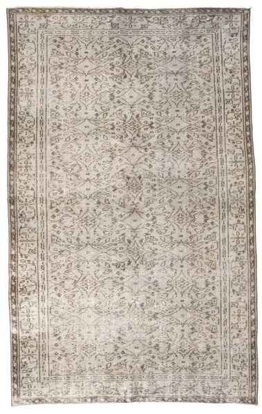 Colored Vintage Rug 164X264 Authentic  Modern Handknotted Light Grey (Wool, Turkey)
