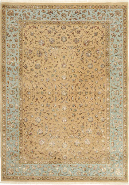 Tabriz Royal Magic Rug 172X244 Authentic  Oriental Handknotted Light Brown ( India)