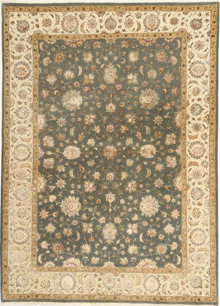 Tabriz Royal Magic Tapijt 174X244 Echt Oosters Handgeknoopt Lichtbruin/Beige ( India)