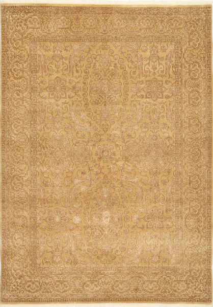 Tabriz Royal Magic Rug 171X238 Authentic  Oriental Handknotted Light Brown ( India)