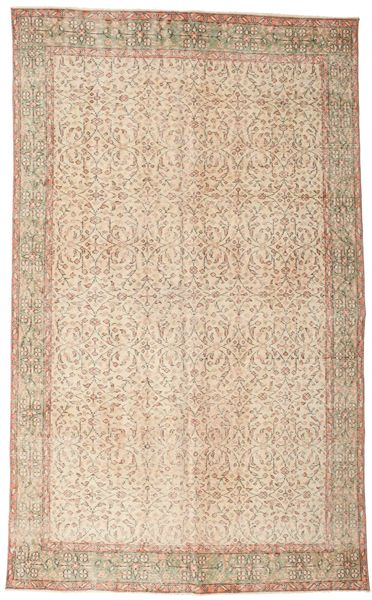 Colored Vintage Rug 170X273 Authentic  Modern Handknotted Beige/Light Brown (Wool, Turkey)