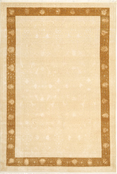Tabriz Royal Magic Rug 202X298 Authentic  Oriental Handknotted Beige/Yellow ( India)