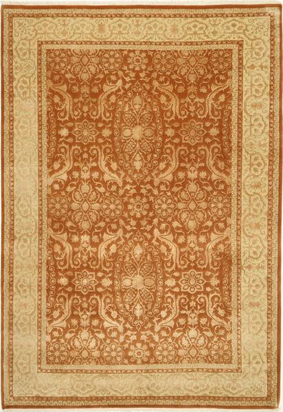 Tabriz Royal Magic Rug 201X299 Authentic  Oriental Handknotted Dark Beige/Brown/Light Brown ( India)