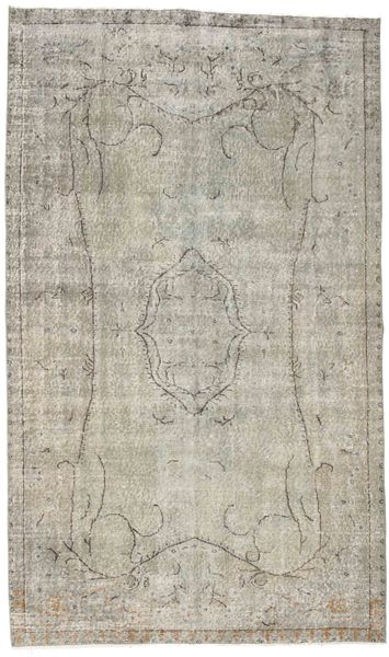 Colored Vintage Rug 158X265 Authentic  Modern Handknotted Light Grey (Wool, Turkey)